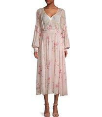 leah floral midi dress