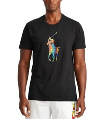 polo ralph lauren men's tie-dye big pony logo lightweight sleep shirt