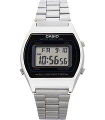reloj casio retro digital b-640wd-1a negro original