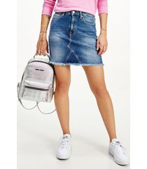 tommy hilfiger women's denim mini skirt medium wash - 26