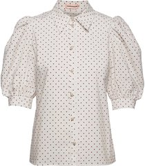 kesa blouses short-sleeved vit custommade