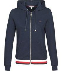 sweater tommy hilfiger heritage zip through hoodie