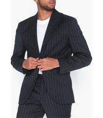 selected homme slhslim-drew navy stripe blz b kavajer & kostymer mörk blå