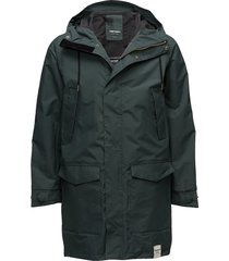 mens rain jacket from the sea parka jas groen tretorn