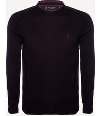 suéter aleatory liso gola careca masculino