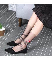 high girl calze summer glass mesh harajuku style sock