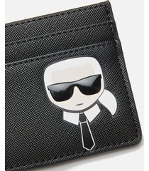 karl lagerfeld women's k/ikonik classic card holder - black