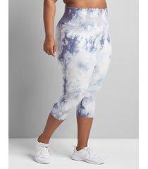 lane bryant women's livi high-rise signature stretch capri legging 22/24 spaced tie dye
