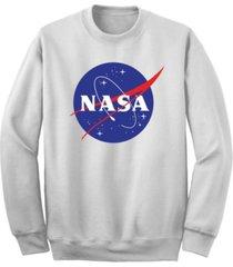 men's nasa logo crew fleece sweatshirt