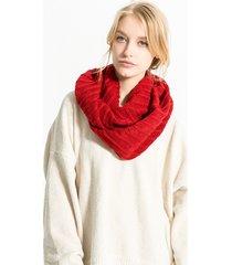 sciarpe di colletto di o-ring lavorate a maglia spesse delle bande verticali delle donne sciarpa calda all'uncinetto del solido