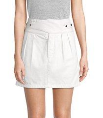 skylar belted a-line skirt