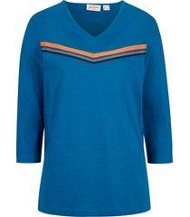 maglia a righe con maniche a 3/4 (blu) - john baner jeanswear