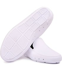 mocasin stretch unisex reciclable vegano blanco