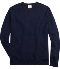 sweater merino wool azul oscuro brooks brothers