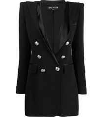 balmain hooded blazer dress - black