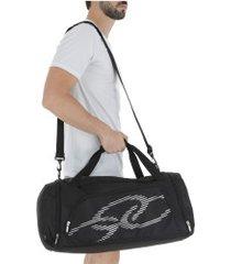 mala olympikus gym bag line 60 cm - preto