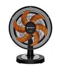 ventilador de mesa cadence turbo conforto com 03 velocidades preto e laranja - vtr478
