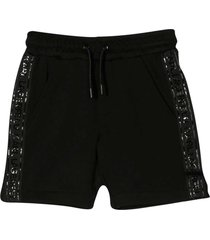 karl lagerfeld kids shorts nero con coulisse