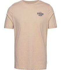 washout tee t-shirts short-sleeved beige fram