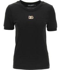 dolce & gabbana dg crystal logo t-shirt