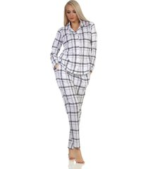 dames doorknoop pyjama normann 90446-xl 48/50