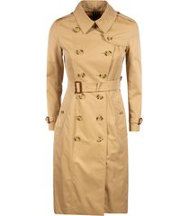 burberry long length belted double-breasted trench