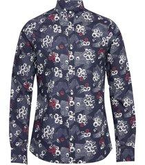 d1. line shirt hero print slim bd overhemd casual blauw gant