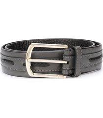 brioni woven-detail belt - grey