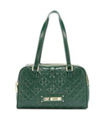 love moschino bolsa tiracolo matelass㪠com logo - verde