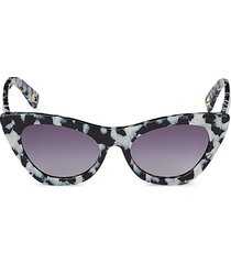 lele sadoughi women's downtown 50mm cat eye sunglasses - black