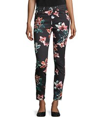 floral ankle cropped skinny jeans