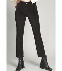 pantalón terciopelo mujer  spandex negro vintage liola