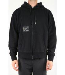 moncler genius black sweatshirt with logo