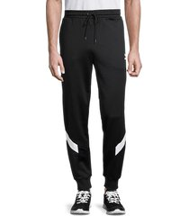puma men's chevron-print track pants - black - size xxl