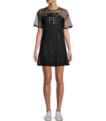 redvalentino women's illusion neckline dress - avorio - size 38 (6)