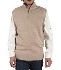 sweater algodón vest café rockford