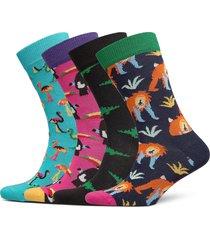 animal gift box underwear socks regular socks multi/mönstrad happy socks