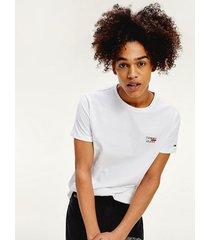 camiseta de algodón orgánico con logo blanco tommy jeans