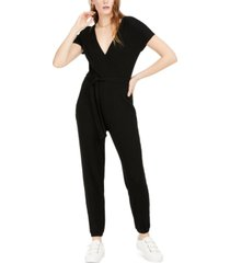 bar iii ribbed tie-waist jumpsuit, created for macy's