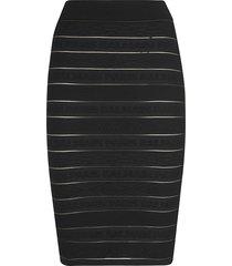 balmain stripe fitted skirt