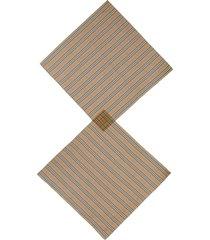women's burberry icon stripe silk chiffon scarf, size one size - beige