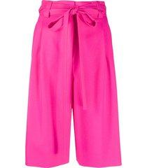 valentino bow tie-waist bermuda shorts - pink