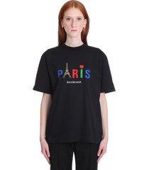 balenciaga t-shirt in black cotton