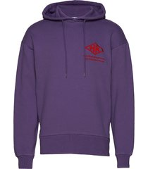 bulky hoodie hoodie trui paars han kjøbenhavn