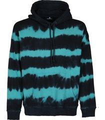 diesel black and blue cotton sweatshirt