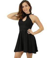 vestido racy modas godê de alcinha preto