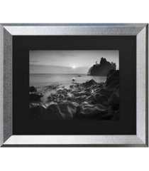 """moises levy sunset at ruby beach matted framed art - 27"""" x 33"""""""