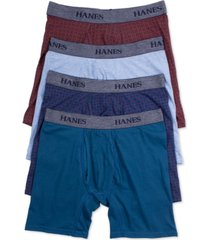 hanes men's 4-pk. platinum stretch boxer briefs