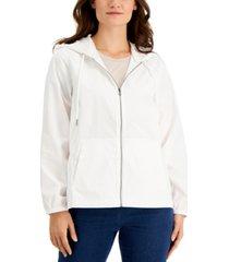 karen scott zipper hoodie, created for macy's