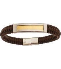 bracelete de aço inox tudo joias gold com 11mm de largura